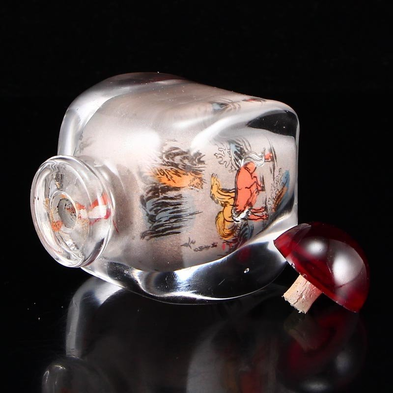 Chinese Peking Glass Inside Painting Snuff Bottle - 7
