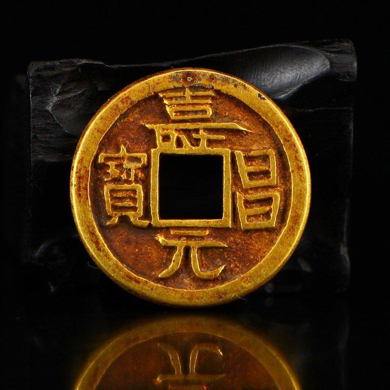 Chinese Liao Dynasty Gold Coin - Shouchang Yuanbao