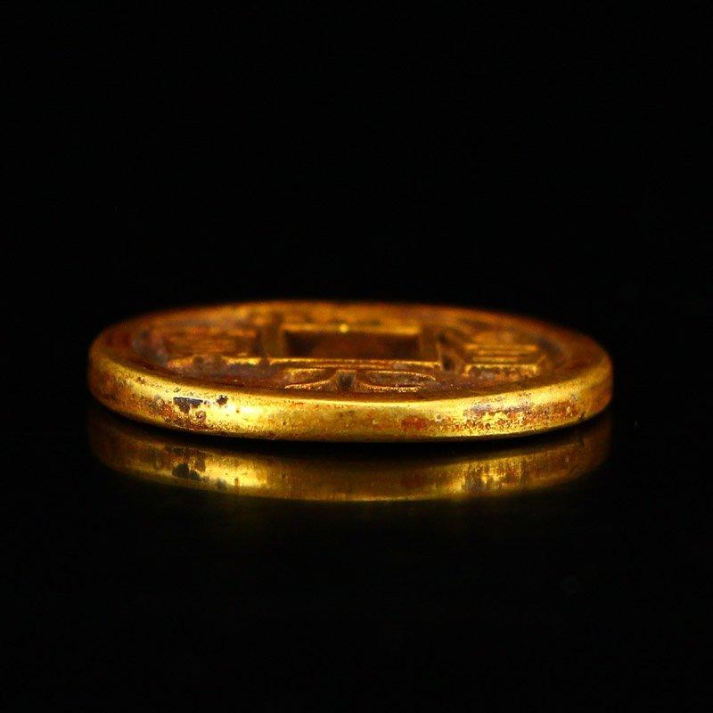 Chinese Liao Dynasty Gold Coin - Shouchang Yuanbao - 5