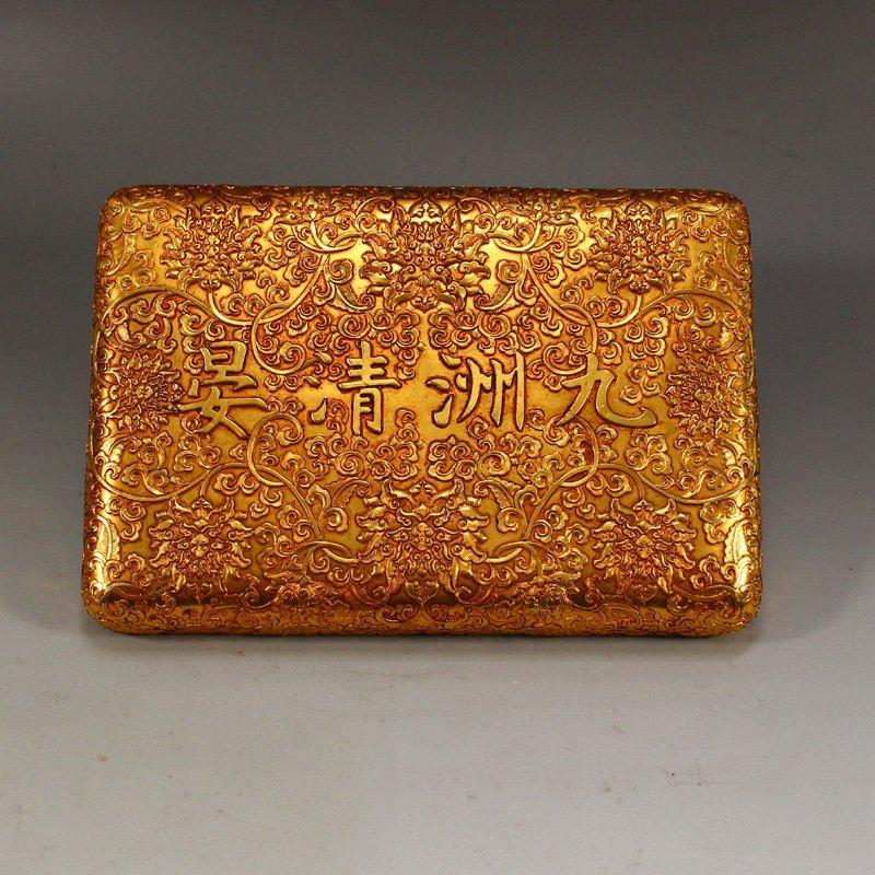 Twelve Gilt Gold Red Copper Sacrifice Bless Coins - 6