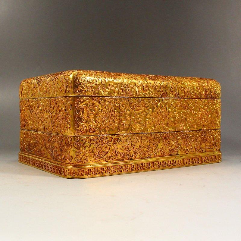 Twelve Gilt Gold Red Copper Sacrifice Bless Coins - 8