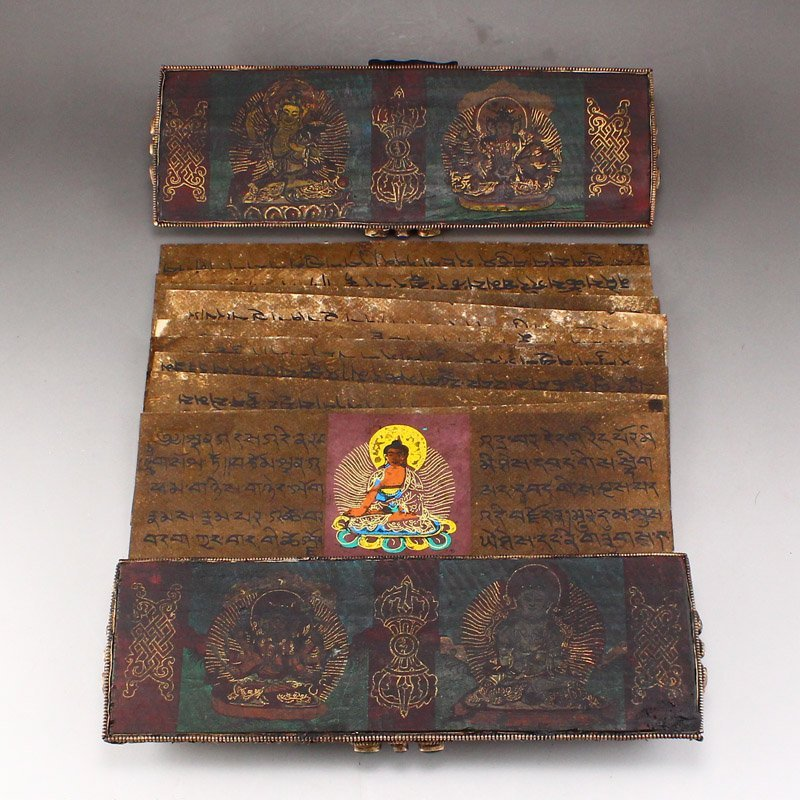 Tibetan Buddhist 9 Page Holy Tantric Sutra Mantra Book - 2
