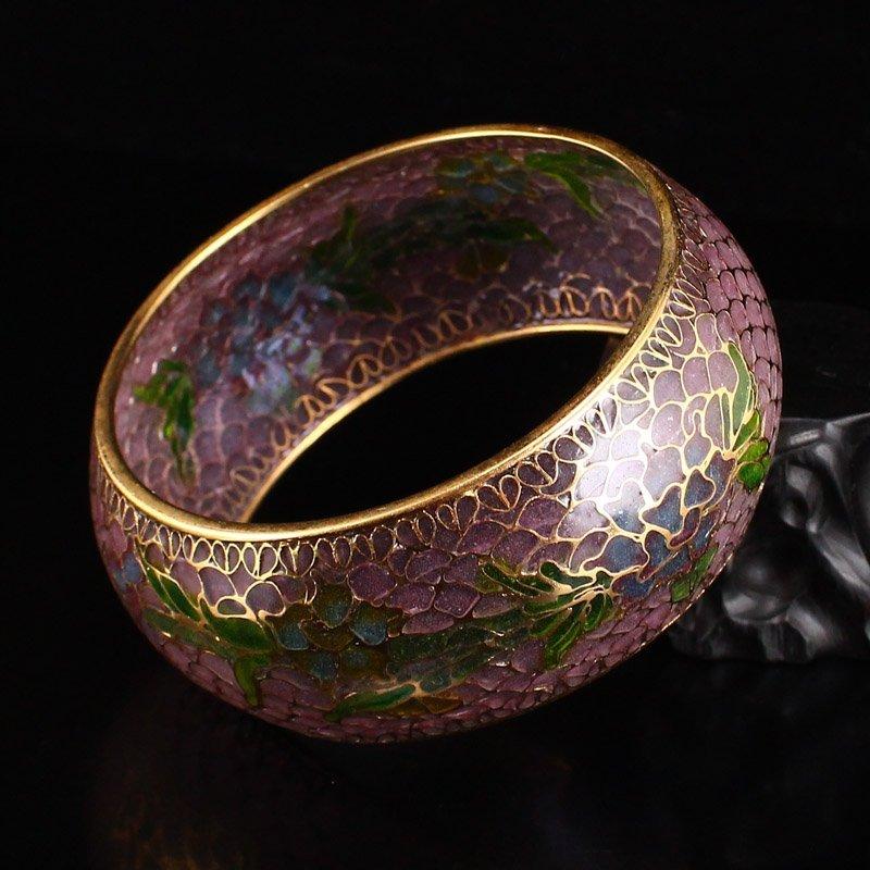 Beautiful Chinese Gilt Gold Bodiless Cloisonne Bracelet - 5