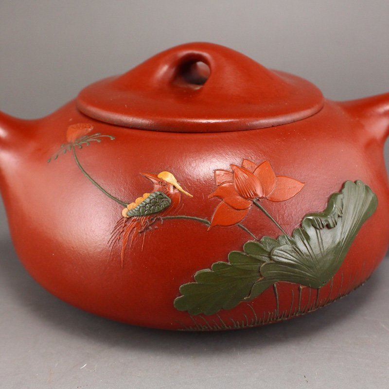 Chinese Yixing Zisha Clay Teapot w Artist Signed - 7