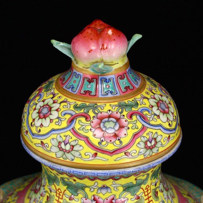 Superb Gilt Edges Famille Rose Porcelain Incense Burner - 6