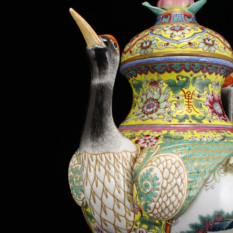 Superb Gilt Edges Famille Rose Porcelain Incense Burner - 7