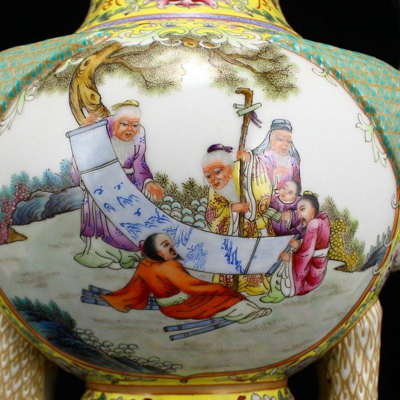 Superb Gilt Edges Famille Rose Porcelain Incense Burner - 9