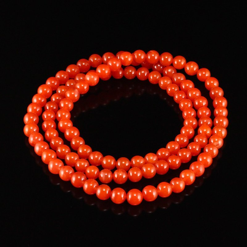 Superb Chinese Natural Nan Hong Agate Beads Necklace