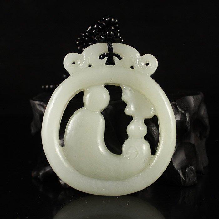 Chinese Natural Hetian Jade Pendant - Buddha