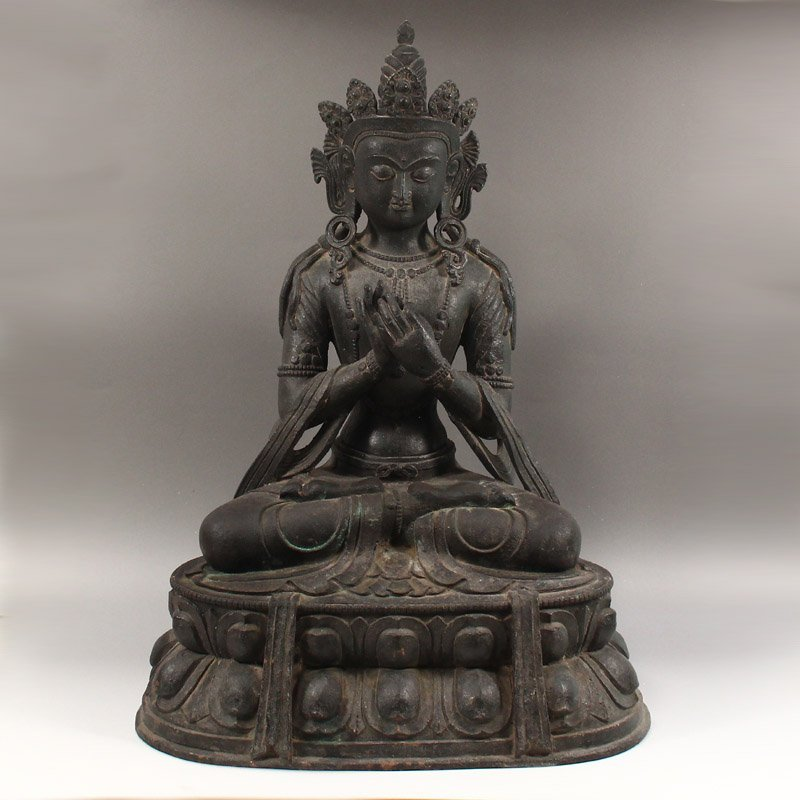 17Kg Vintage Tibetan Buddhism Bronze Tara Statue