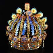 Excellent Gold Wires Enamel Nine Dragon Emperor