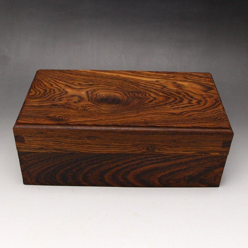 Chinese Natural Hainan Huanghuali Wood Jewelry Box