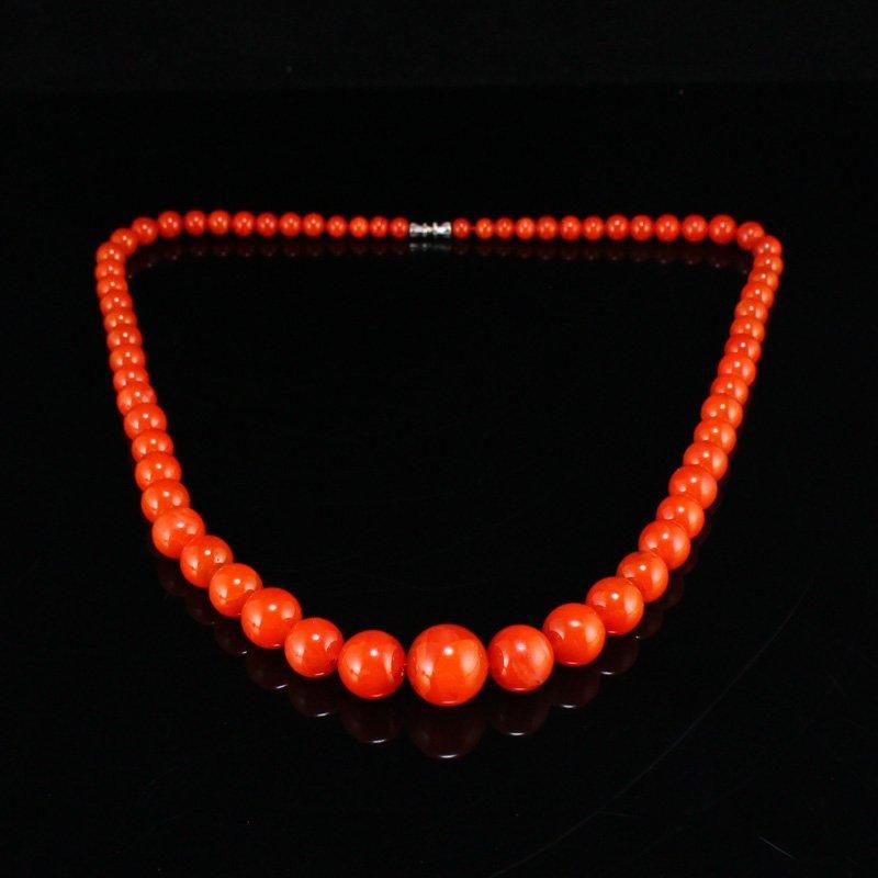Chinese Natural Nanhong Agate Beads Necklace / Pendant