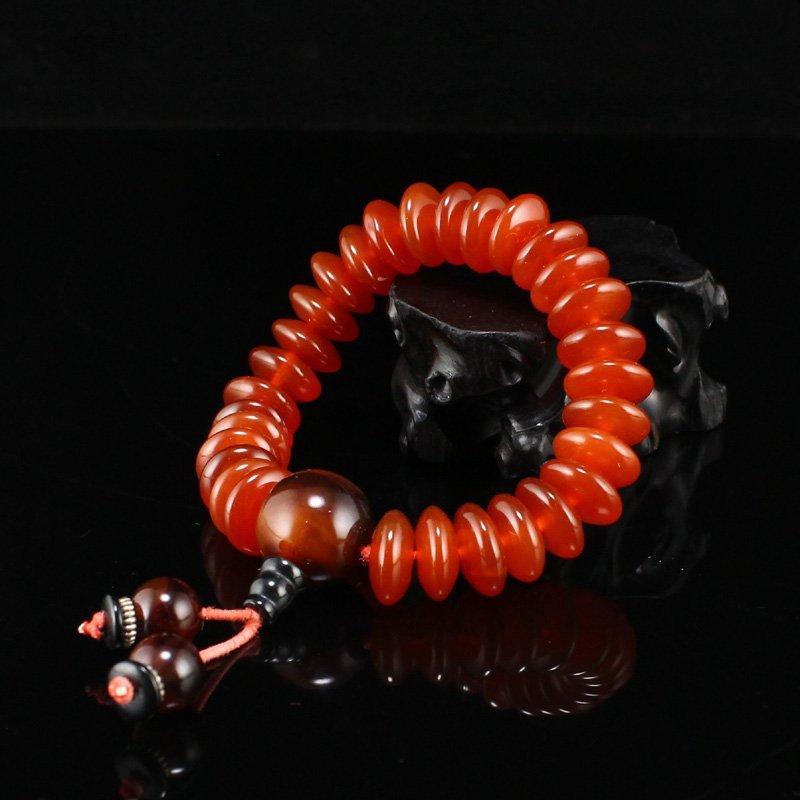 Vintage Chinese Agate Beads Bracelet