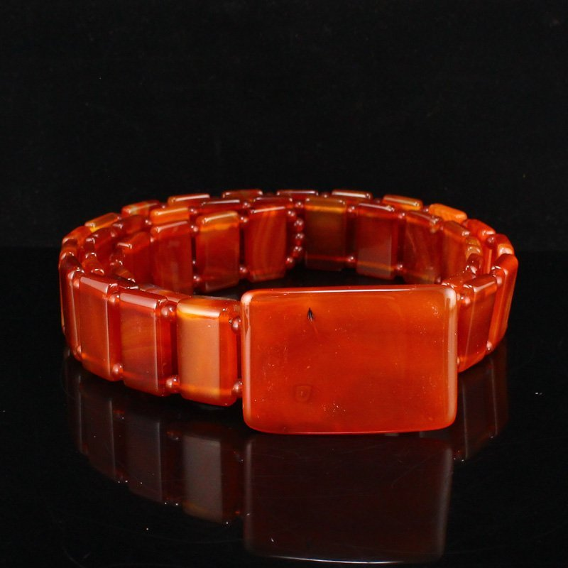 Beautiful Chinese Natural Red Agate Waistband