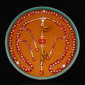 Superb Red Coral & Pearl Beads Court Officials Necklace