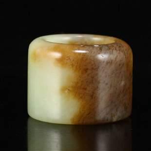 Chinese Hetian Jade Thumb Ring
