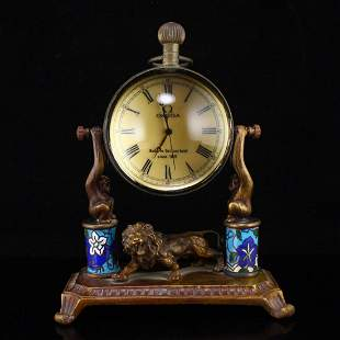 Vintage Brass Mechanical Clock