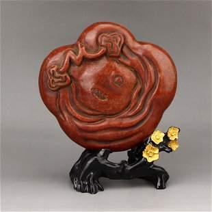 Vintage Chinese Shoushan Stone Inkpad Box