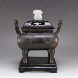 Superb Chinese Qing Dynasty Bronze Incense Burner