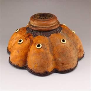 Vintage Chinese Gourd Carved Incense Burner