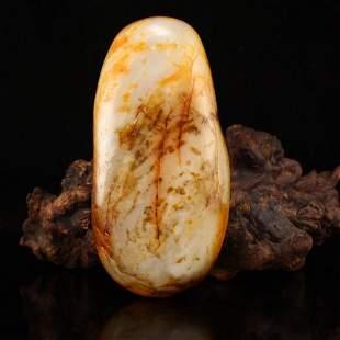Chinese Xinjiang Hetian Jade Ziliao Original Stone
