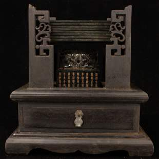 Chinese Qing Deep Green Hetian Jade Seal & Jade Book
