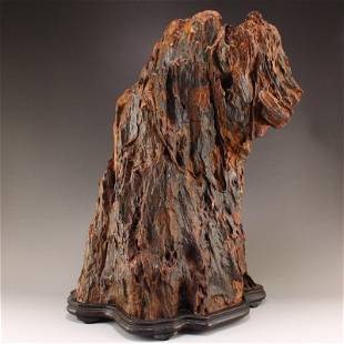 Superb Chinese Chenxiang Wood Original Wood Statue