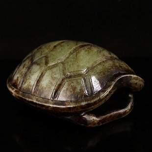 Vintage Chinese Hetian Jade Divination Turtle Shell