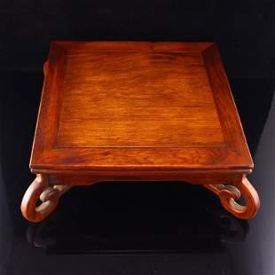 Vintage Chinese Zitan Wood Tea Table