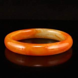 59 MM Vintage Chinese Hetian Jade Bracelet