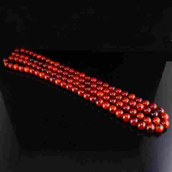 17 MM Chinese Ox Horn Beads Prayer Necklace