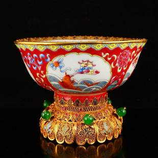 Superb Chinese Qing Dy Famille Rose Porcelain Bowl
