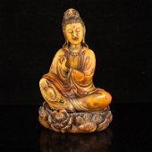Superb Qing Dy Tianhuang Stone Kwan-yin Statue