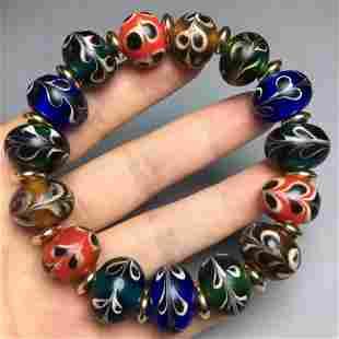 Beautiful Design Chinese Peking Glass Beads Bracelet