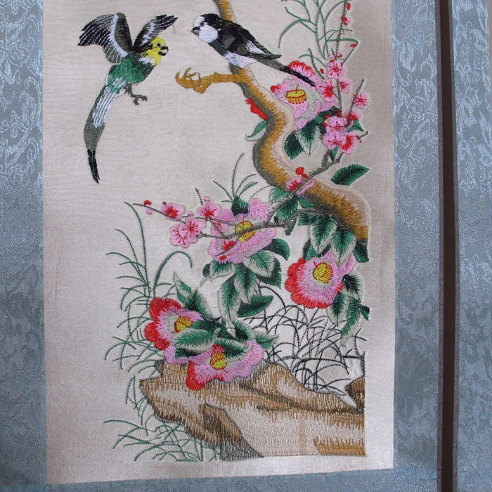A Set Chinese Suzhou Hand Silk Embroidery Painting - 5