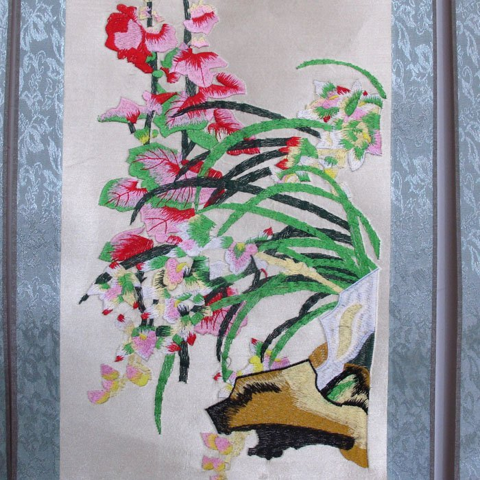 A Set Chinese Suzhou Hand Silk Embroidery Painting - 7