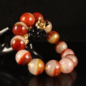 Beautiful Chinese Natural Agate Beads Bracelet
