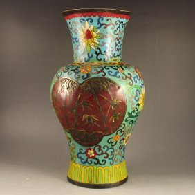 Chinese Bronze Cloisonne Vase