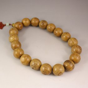 Chinese Natural Jichi Wood Beads Prayer Bracelet