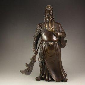 Chinese Bronze Statue - General Guangong