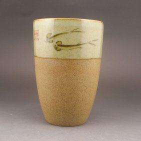Chinese Porcelain Cup Lucky Fish