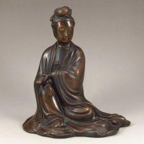 Chinese Bronze Statue - Kwan-yin