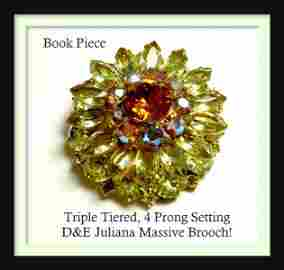 Amazing D&E Juliana BOOK PIECE Triple Tiered Rhinestone
