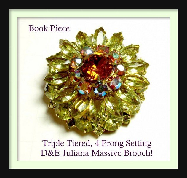 Amazing D&E Juliana BOOK PIECE Triple Tiered Rhinestone