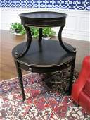 Harden Tapestry 2 Tier Round Wood Side Table