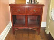 Harden Cherry Nightstand with Knotted Rope Knobs