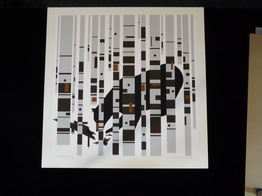 Bear in the Birches print by Charles Harper #391
