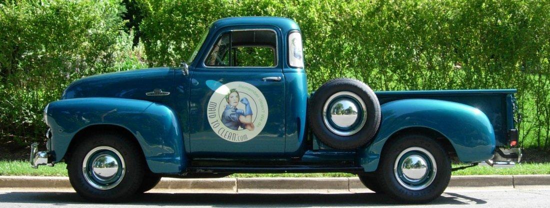 Beautifully Restored Blue 1954 Chevy 3100 Pickup