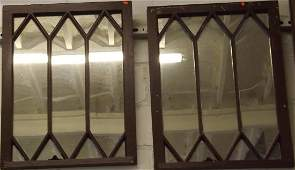 Re-purposed pair of English Stained Glass windows -